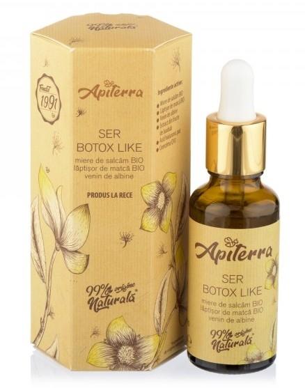Ser Lifting cu miere, laptisor de matca si venin de albine, 30ml - Apiterra