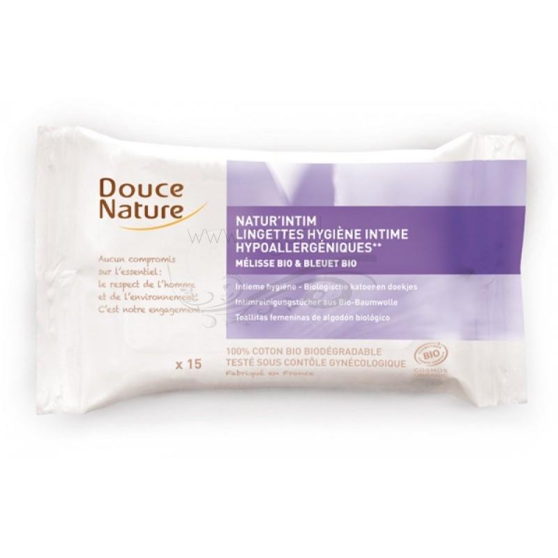 Servetele umede intime din bumbac bio, 15 buc - Douce Nature