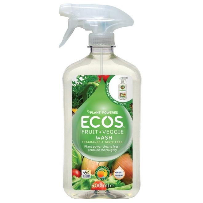 Solutie ecologica pentru spalat legume si fructe, 500 ml - ECOS
