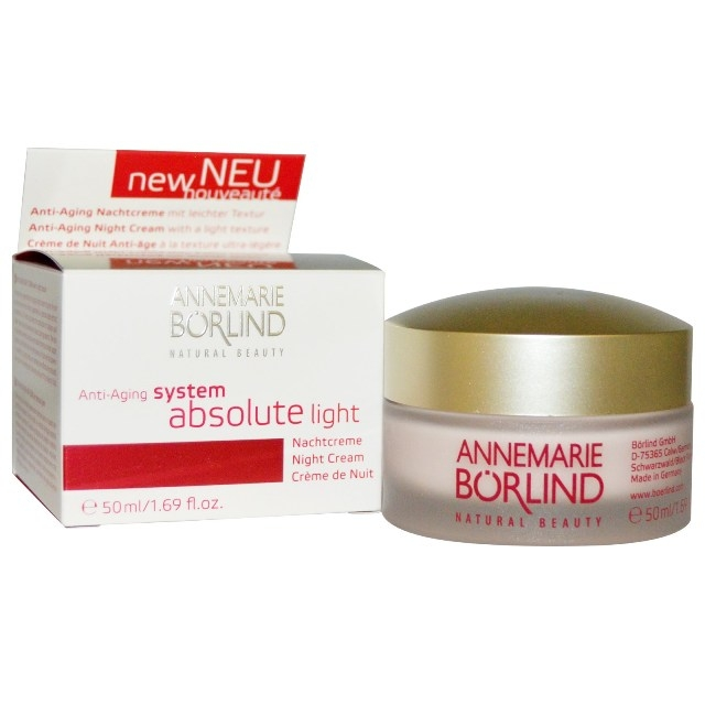 System Absolute Crema de noapte anti-ageing cu textura light, 50ml - Annemarie Borlind
