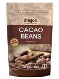 Boabe de cacao intregi bio, raw, 200g - Dragon Superfoods