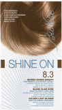 Vopsea de par tratament Shine On, Golden Light Blonde 8.3 - Bionike