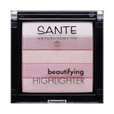 Iluminator pentru ten Beautifying Highlighter 02 Rose - SANTE NATURKOSMETIK