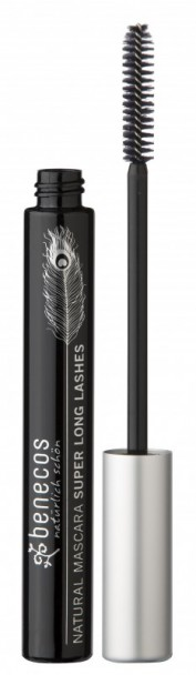 Mascara natural SUPERLONG LASHES, Negru - Benecos