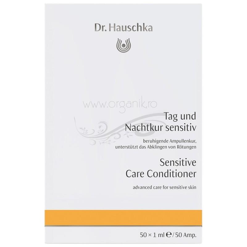 Tratament avansat de zi si noapte pentru tenul sensibil sau cuperoza, 50 fiole - Dr. Hauschka