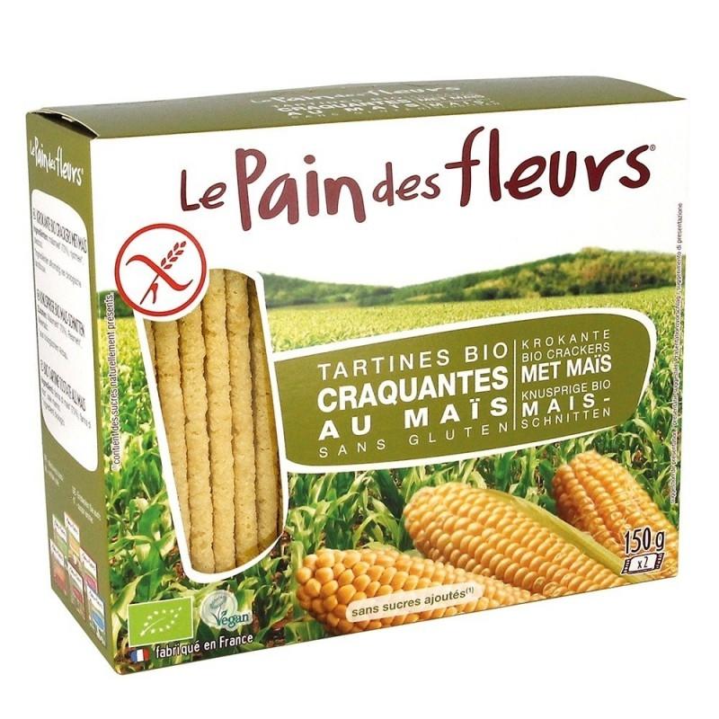 Tartine crocante bio din porumb si orez, fara gluten, 150g - Le Pain des Fleur
