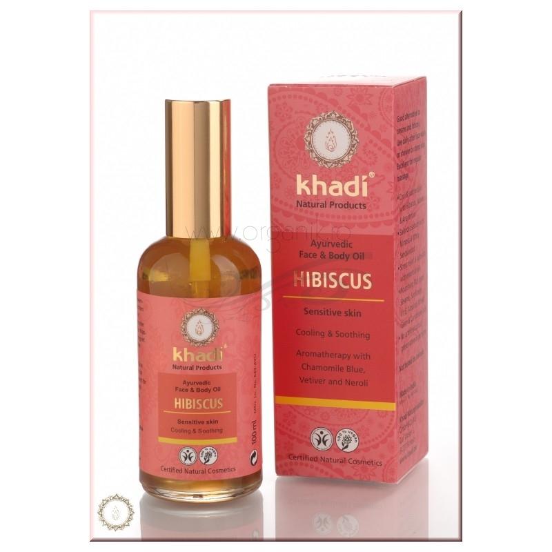 Ulei cu Hibiscus, pentru pielea sensibila (ten si corp)100ml - Khadi