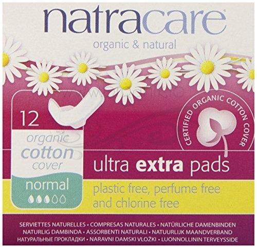 Absorbante Ultra Extra de noapte (3 picaturi), 12 buc - Natracare